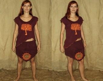 Flower of life pointy elven skirt S-M