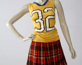 vintage jersey t-shirt, UCLA yellow and blue tank top