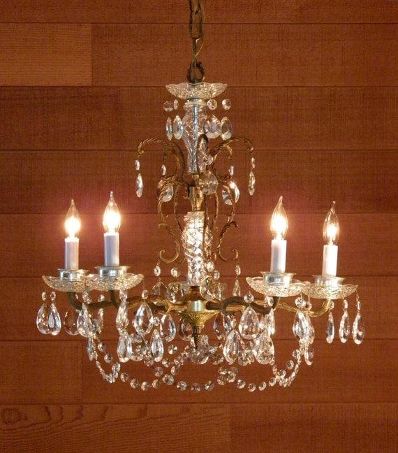 Vintage Chandelier Gorgeous Antique Chandelier Ornate Brass