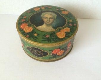 Antique French  Face Powder Box, ''Manon Lescaut'' Bourjois,Paris.Rare Cardboard Box, 1894 Collectibles