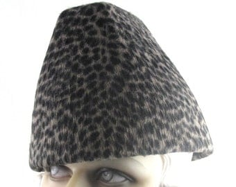 Art Deco 1930 The Plot Thickens Animal Print Long Hair Fur Felt Toque This is a Custom Order