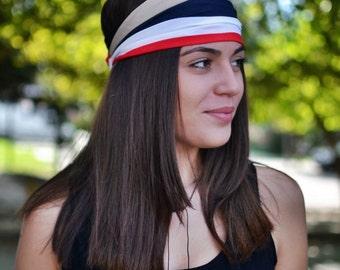 Viscose Headband, Striped Headband, Running Headband, Yoga Headband, Boho Headband, Workout Headband, Womens Turban, Womens Headband