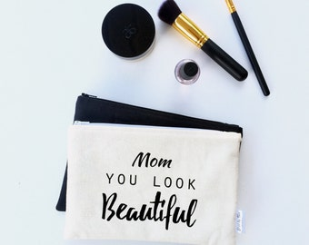 Mother of the Groom Gift - Wedding Makeup Pouch - Mother of the Bride Gift - Mothers Day Gift - Gift for Mom - Mom Gifts from Daughter