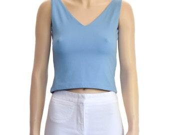 Vintage Tops, Blue Tops, 1990s, Women's Tops, Women's Fashion, Women's Blouse, Vintage Blouse, Women's Clothing, Tops, Gift for Her, Foravi
