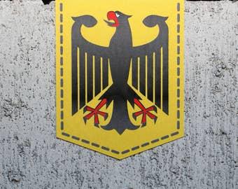 "Germany Coat of Arms sticker - 2"" x 2.5"" - Vinyl Decal Car German Emblem Badge Bundesadler"