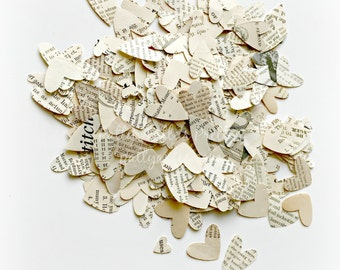 Hearts Confetti, Book Hearts, Book Hearts Confetti, Wedding Confetti, Wedding Hearts Confetti, Book Group Confetti, 200 Ct.
