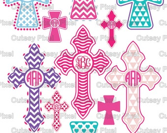 14 Cross Designs Monogram Frames Svg cutting file, Cross Designs, Cricut Design Space, Silhouette Studio,Digital Cut Files, cross svg