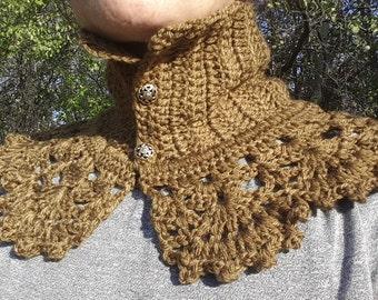 Neckwarmer Women, Scarf Women, Crochet Cowl Scarflette , Crochet Neckwarmer, Crochet  Scarf, Crochet Necklace, Women Cowl,  Womens Gift