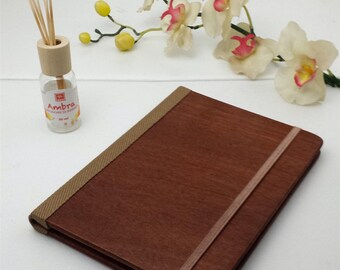 Mahogany Scent Wood Journal, Wood Sketchbook, Scent Cover, Wood Notebook, Travel Notebook, Diary, Notes