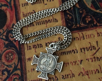 St michael necklace etsy mozeypictures Gallery