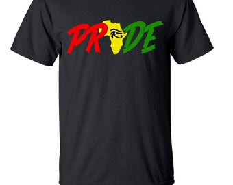PAN AFRICAN RBG Shirt| African Clothing| Afrocentric Clothing|Black Pride Shirt|African Mens Clothing|Africa Shirt|Proud Tshirt|Rasta|Reggae