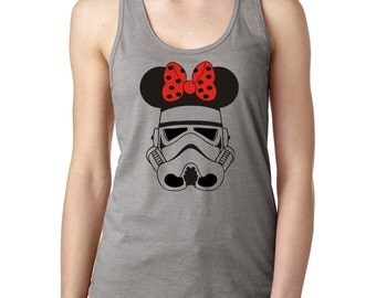 Star Wars Tank / Stormtrooper / Storm Trooper Minnie Mouse Women's Disney Family Vacation Shirt - Star Wars Ladies Tank Top