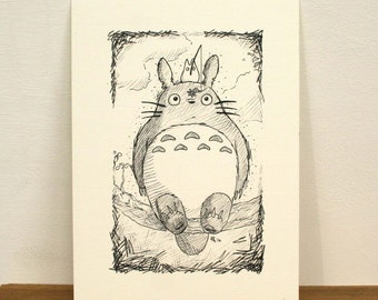 My Neighbour Totoro Print (A5)