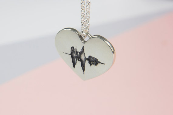 soundwave jewelry soundwave necklace sound wave waveform sterling 5023
