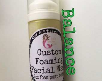 Balance Foaming Facial Wash ! Formulated for oily skin types! Listing is for one concentrated wash.