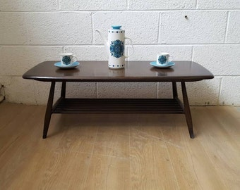 Beautiful Vintage Ercol Coffee Table with Shelf