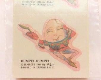 Vintage Tempest Humpty Dumpty. 8 Sealed Stickers