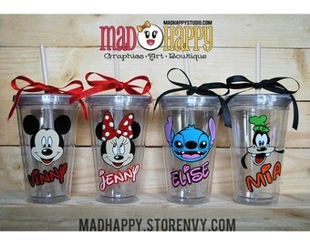 Character Tumbler Cup with Name