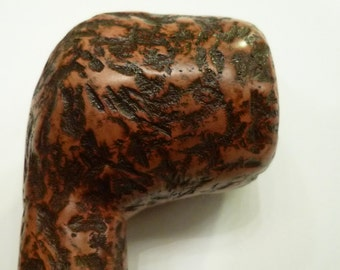 ManVsPipe Handcarved Unsmoked Volcano Cypriot Briar Tobacco Pipe