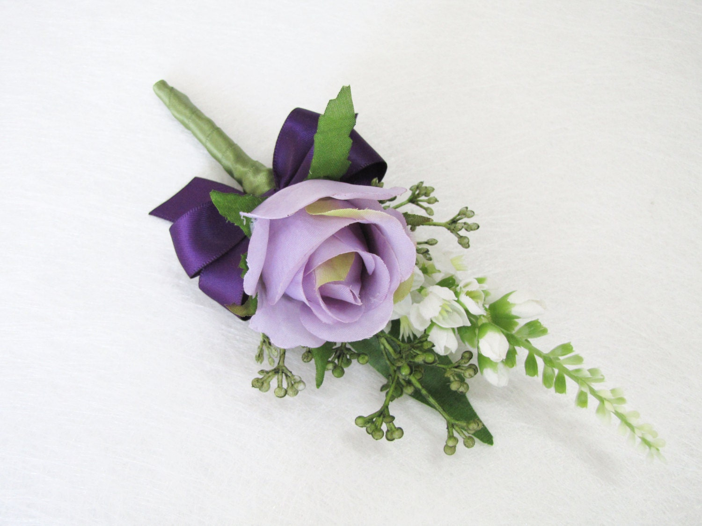 lavender boutonniere-#29