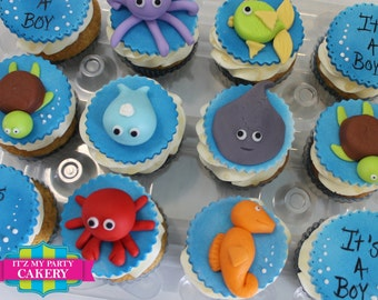 Under the Sea Cupcake Toppers - 1 Dozen