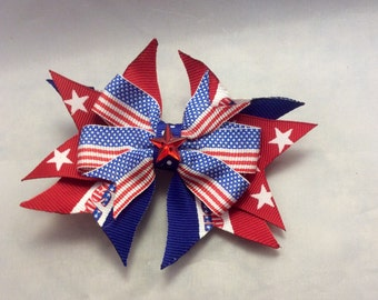 Small 4th of July Bow