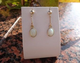 Genuine opal earrings! 585-er Goldfilled, very classy!