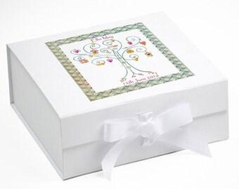 Personalised Baby Keepsake Box,Baby Girl Keepsake Gift,Baby Name Gift,Baby Gifts,Baby Girl Gifts, Tree Heart