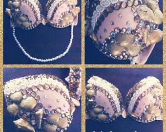 34 A Golden Mermaid Bra