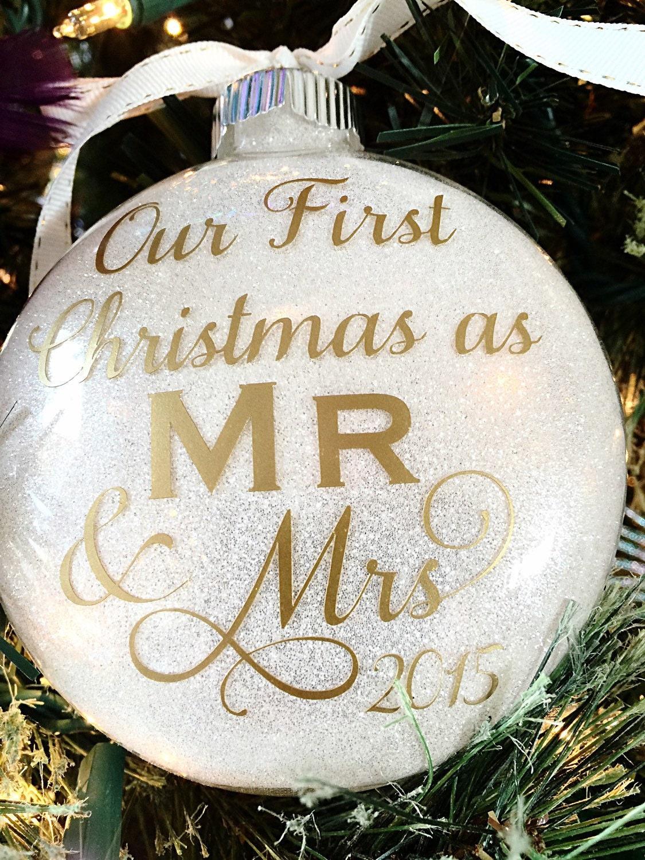 1st Christmas Ornament Wedding