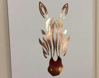 A4 Foil Print- Zebra Silhouette