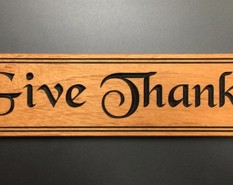 Give Thanks / Customizable Sign
