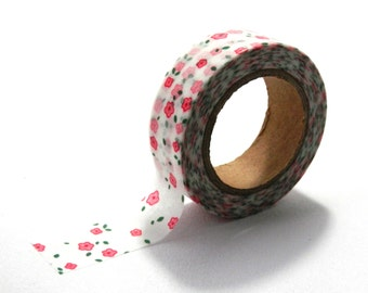 Delicate Pink Floral Cath Kidston Style Washi Tape 10m x 15mm