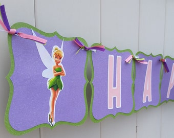 Tinker Bell Inspired Birthday Banner