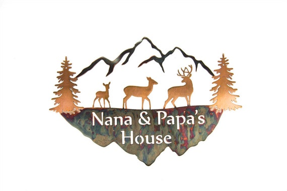 Nana & Papa's House metal sign