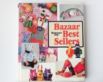 Vintage Woman's Day Craft Book, Bazaar Best Sellers Book, 175 Sewing, Knitting, Crochet Projects, Hardback with Dust Jacket, 1983, 01078