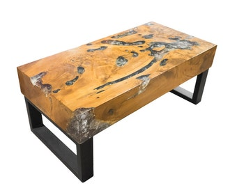 Teak Root and Resin Table CR-2060