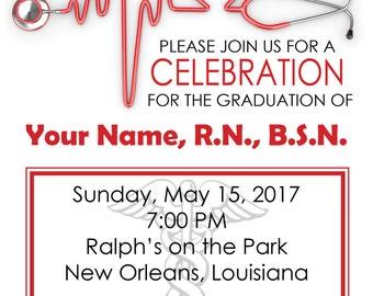 RN Graduation Announcement-Party 5x7