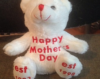 Mother's Day Personalized Bear 6 1/2""