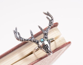 Deer Ring with Turquoise