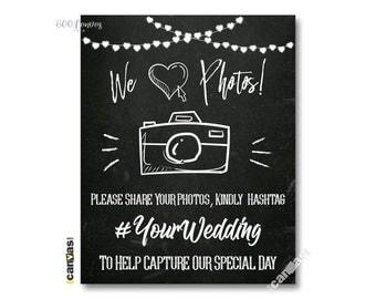 Social Media Wedding Sign, Hashtag Wedding Sign, Chalkboard Hashtag Sign, Chalkboard Hashtag, Camera, Wedding Printables, Digital File 01