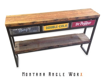 Reclaimed sideboard etsy for Sofa table dog crate