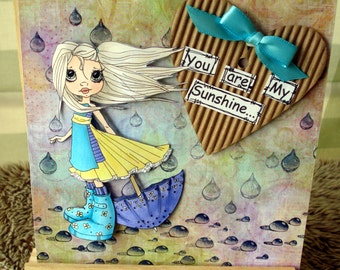 Saturated Canary card/birthday/any occasion card