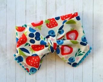 Baby Headwrap - Baby Turban - Baby Headband - Girls Turban Headband - Summer Fruit - Turban - Bow Headband - Baby Bow Headband