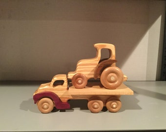 Wooden Truck and Tractor