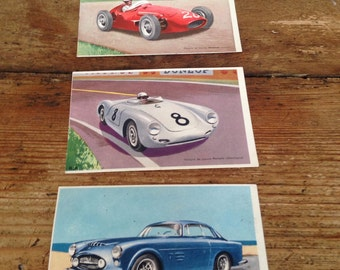 Vintage Sports Car postcards