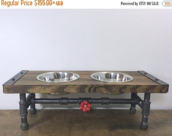 10% OFF Industrial Dog Feeder, Pet Feeder, Industrial Style, Pet Supplies, Pet Feeding, Elevated Dog Bowl, Raised Dog Bowl, Pipe Furniture,