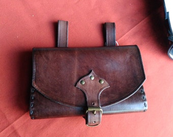leather handled bag, medieval - steampunk