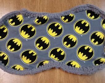 Batman Crochet Edge Burp Cloth