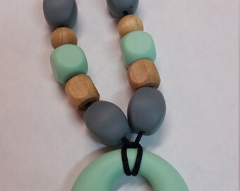Pick Your Colors Wood and Silicone Teething Necklace